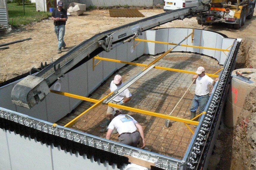 Structura feat un syst me ing nieux de construction b ton for Equipement piscine beton
