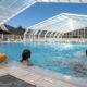 Abri de piscine rideau