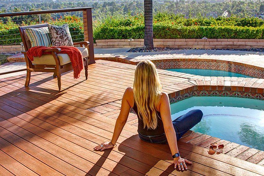 Terrasse en bois composite