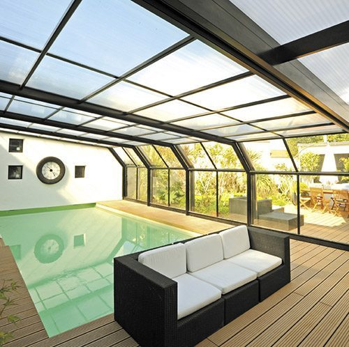 Abri rideau collection attik id es piscine for Abri piscine rideau