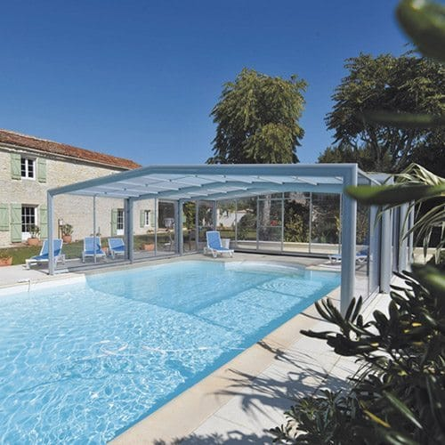 Abri rideau collection triptik id es piscine for Abris piscine rideau