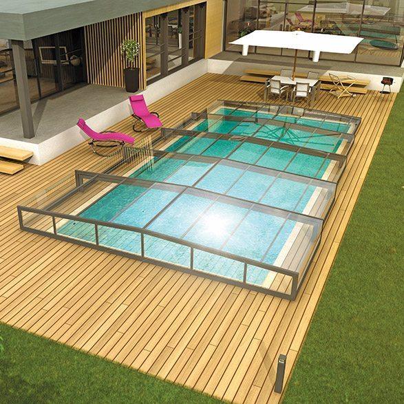 abris rideau elliptik mi haut id es piscine. Black Bedroom Furniture Sets. Home Design Ideas
