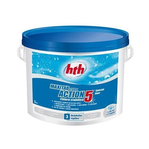 hth Maxitab 200 g Action 5 spécial liner