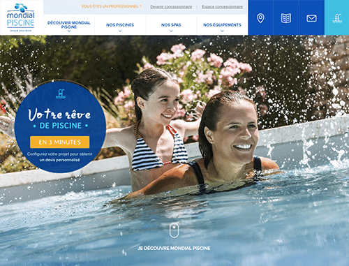 Nouveau site internet pour mondial piscine id es piscine for Piscine internet
