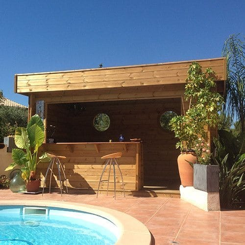 Pool house bois id es piscine - Photos pool house piscine ...