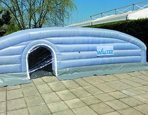 abri de chantier gonflable Walter piscine