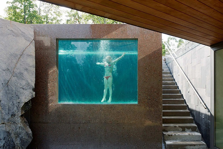 Tendances 2017 les plus belles piscines parois de - Piscine fibre de verre hors sol ...