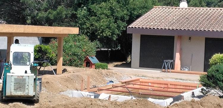 Construction piscine en bois