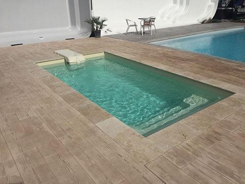 mini piscine coque