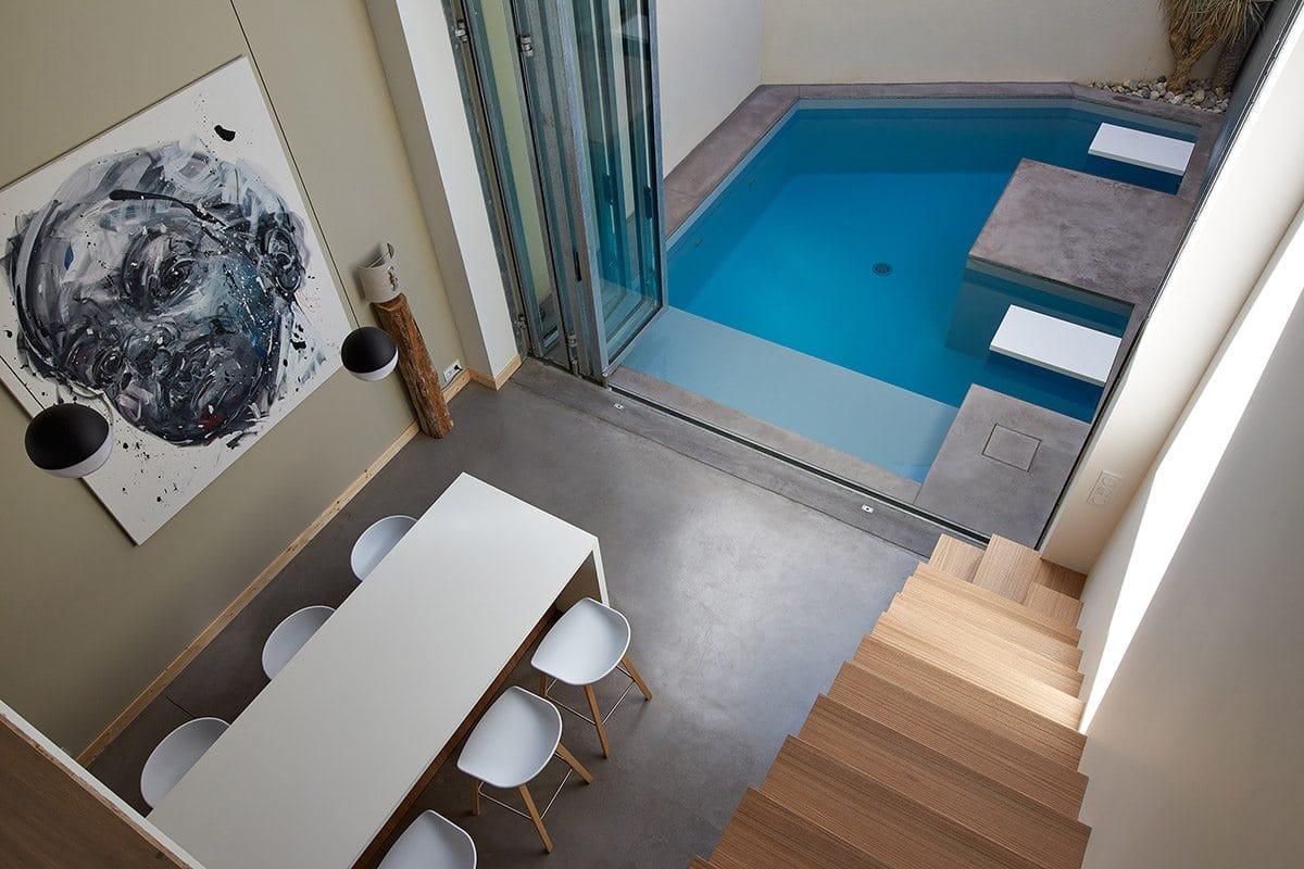 Carré d'Or catégorie petite piscine – Carré Bleu Atelier Piscine (85) – Architecte : Pauline Moussier – Photographe : François Deladerrière