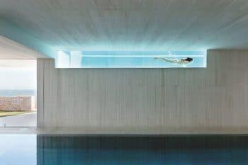 piscine à paroi de verre Casa Sardinera