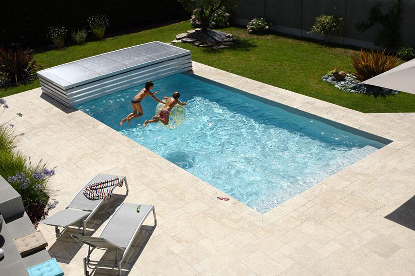 Abri de piscine plat Poolabri