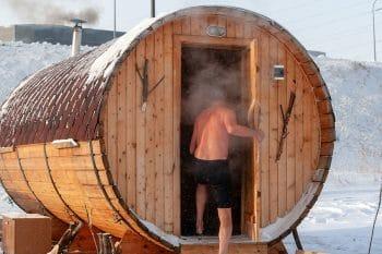 Sauna extérieur en Russie