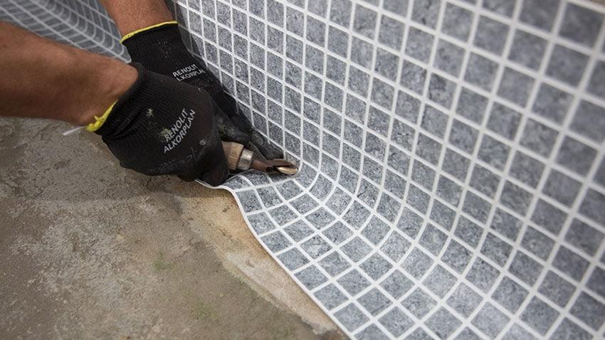 Soudure membrane armée piscine