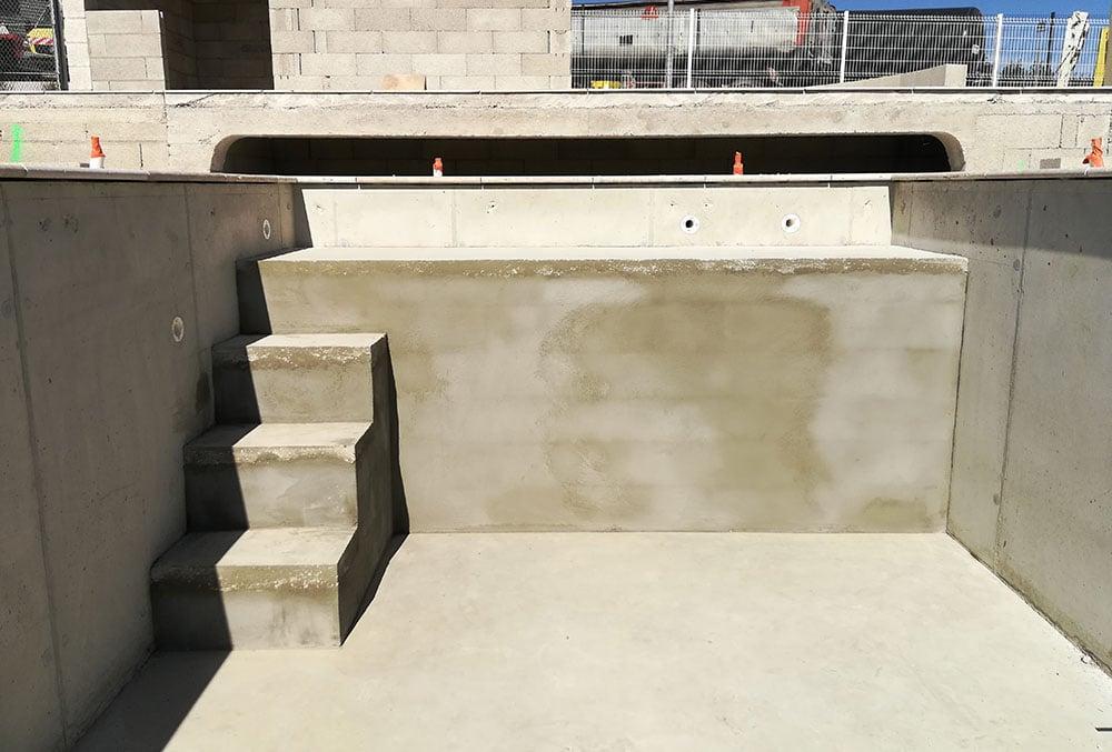 Construction d'une piscine - étape 9 du chantier