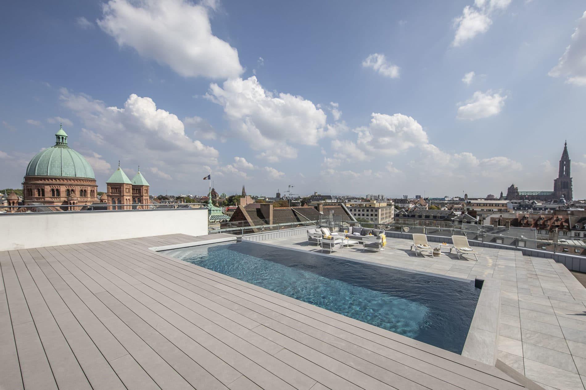 piscine sur toit-terrasse