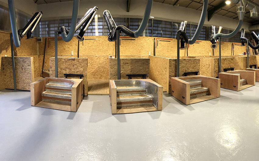 Salle de formation à la pose de membrane armée