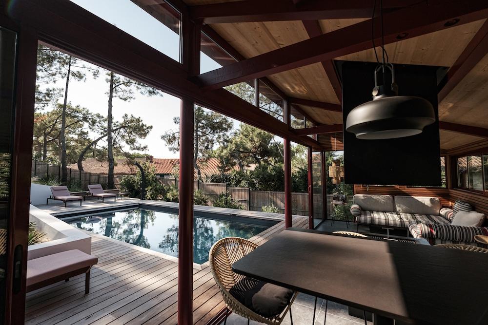 Vue intérieur du Pool House